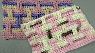 getlinkyoutube.com-Crochet : Punto Ladrillo