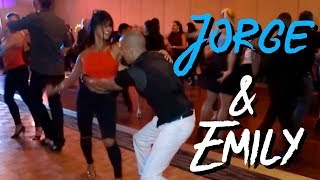 getlinkyoutube.com-Salsa- Emily Alabi & Jorge Melo @ Charlotte salsa invitational 15. Social dance friday.
