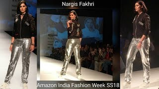 Nargis Fakhri Hot Ramp Walk | Sexy Outfit |