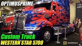 getlinkyoutube.com-2015 Western Star 5700 OP Optimusprime Transformers Truck - Walkaround - 2015 Expocam Montreal