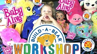 getlinkyoutube.com-BABY ALIVE get a BUILD-A-BEAR. TROLLS! The Lilly and Mommy show!