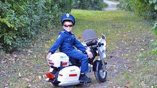 getlinkyoutube.com-Little Heroes Kid Motorz Police Motorcycle Kid Cops The Ghost Buster