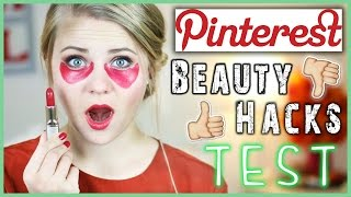 getlinkyoutube.com-6 PINTEREST BEAUTY HACKS GETESTET - Lippenstift als Concealer?!