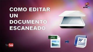 getlinkyoutube.com-Como Editar Un Documento Escaneado