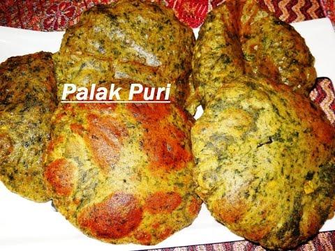 Laziz Desi Palak Puri (देसी पालक पुरी)...