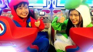 getlinkyoutube.com-マリカ―でヨッシーひなちょすとマリオみさきが対戦してみた☆