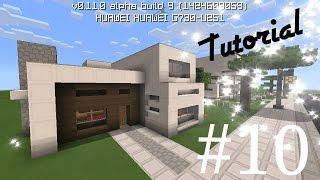 getlinkyoutube.com-Como hacer una casa moderna de cuarzo (13x14) en minecraft pe