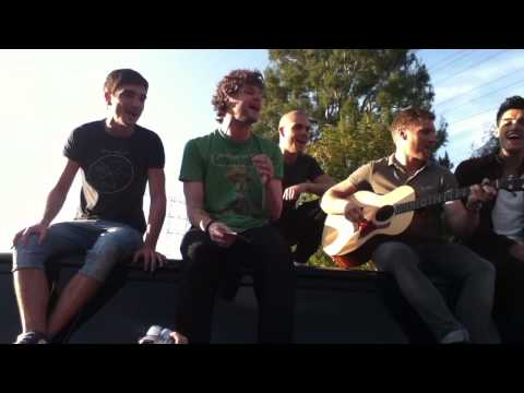The Wanted - Lose My Mind (after recording the Tonight Show) mini acoustic performance 3.20.12