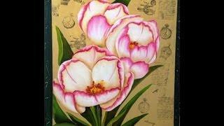 getlinkyoutube.com-Como pintar  flores - Tecnica americana
