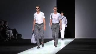 Giorgio Armani Menswear Spring/Summer 2014 Milan Fashion Show