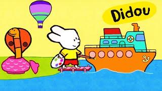 getlinkyoutube.com-Didou, dessine-moi une Montgolfière, un paquebot et un serpent | Dessin animé pour enfants