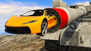 SHOT OUT OF A TANK! (GTA 5 Funny Moments)