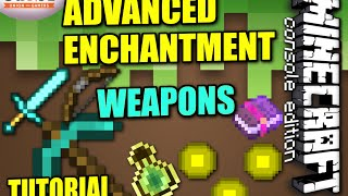 getlinkyoutube.com-MINECRAFT - PS4 - ADVANCED WEAPON ENCHANTMENT - TUTORIAL ( PS3 / XBOX /PC / PE ) WII