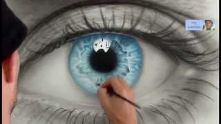 getlinkyoutube.com-How to Draw a AMAZING realistic eye. Speed painting