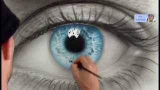 getlinkyoutube.com-How to Draw a AMAZING realistic eye. Speed painting