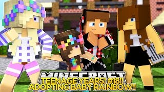getlinkyoutube.com-TEENAGE YEARS #18 - ADOPTING BABY RAINBOW!! - Little Donny Minecraft Custom Roleplay.