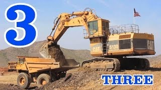 getlinkyoutube.com-Excavators & Dump Trucks Teaching Numbers 1 to 10 - Learning to Count for Kids