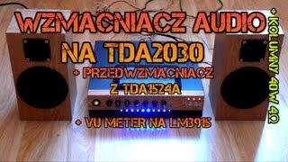 getlinkyoutube.com-Wzmacniacz własnej produkcji na TDA2030 + Przedwzmacniacz na TDA1524 + VU METER na LM3915 + kolumny