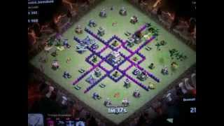 getlinkyoutube.com-Townhall 7 Clash of Clans Anti dragon / Spread out base attack 100%