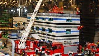 getlinkyoutube.com-Fun Lego Set - Big City and the Fire Brigade; Lego - Duże miasto i Straż pożarna