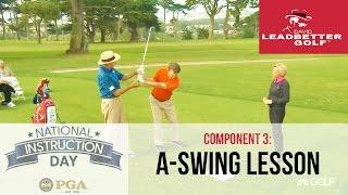 getlinkyoutube.com-David Leadbetter teaches The A Swing to an amateur, National Instruction Day 2016