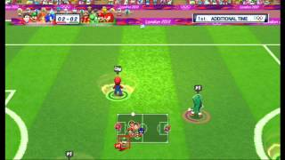 Mario & Sonic at the London 2012 Olympic Games: Football [1080 HD]