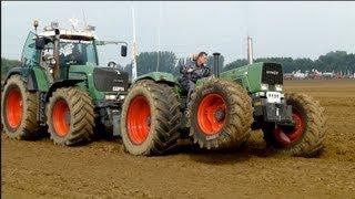 getlinkyoutube.com-Ploughing Fendt 614 S favorit & Fendt 930 vario