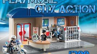 getlinkyoutube.com-Playmobil - Estación de Policía Maletín - City Action Model 5299 - Take Along Police Station