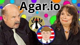getlinkyoutube.com-ELDERS PLAY AGAR.IO (Elders React: Gaming)