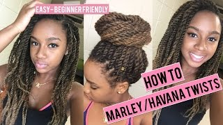 getlinkyoutube.com-How To do Havana Marley Twists: Super EASY TUTORIAL!! Invisible Roots