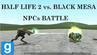 getlinkyoutube.com-Half-Life 2 vs. Black Mesa SNPC battle in Gmod