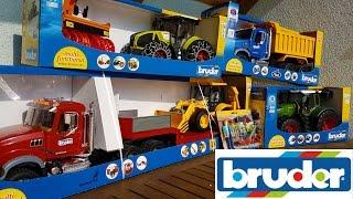 getlinkyoutube.com-BRUDER toys NEWS Tractor Fendt, Claas, Truck Mack and Dump truck Mack