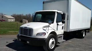 getlinkyoutube.com-SOLD Freightliner M2 Business Class Cargo Morgan 24' Van Lift Gate For Sale
