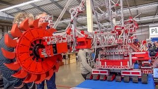 getlinkyoutube.com-Bucket wheel excavator by Fischertechnik! Amazing thing!