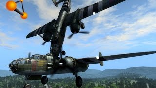 getlinkyoutube.com-BeamNG.Drive Mod : B-25 Mitchell Plane (Crash test)