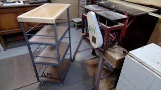 getlinkyoutube.com-Мое изготовление верстака из металла с полками на колесах для мастерской своими руками