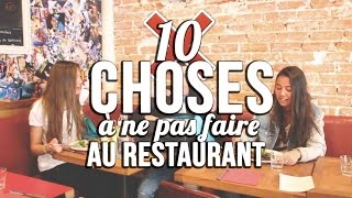 getlinkyoutube.com-10 CHOSES À NE PAS FAIRE AU RESTAURANT