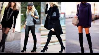 getlinkyoutube.com-Outfits con botas altas luce seductora tendencias Otoño-Invierno 2015-2016