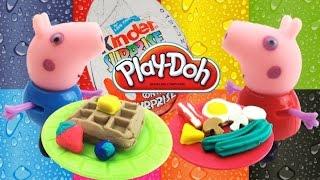 getlinkyoutube.com-Новый набор пластилина Плей до лепим вкусный завтрак Play doh set breakfast time
