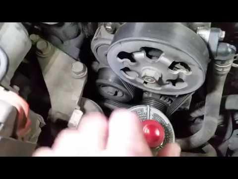 Honda Accord cl 7- cl 9 Замена подшипников генератора, прокладка фильтр клапана рециркуляции.