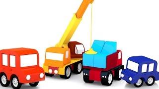 getlinkyoutube.com-Развивающий мультик для детей.  4 машинки. Большая пирамида.