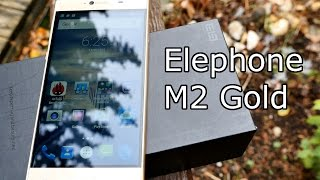 getlinkyoutube.com-Elephone M2 unboxing & first look - Gold Edition - Great Specs for a low Price [4K]