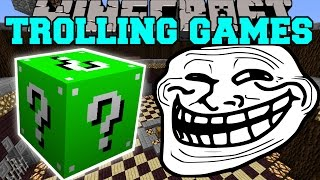 getlinkyoutube.com-Minecraft: KINGDOMS OF THE OVERWORLD TROLLING GAMES - Lucky Block Mod - Modded Mini-Game