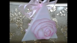 getlinkyoutube.com-Best Out of Waste Plastic Triangle gift box and roses