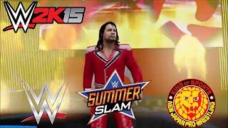 getlinkyoutube.com-WWE 2K15 HIGHLIGHTS: WWE vs NJPW: Summerslam 2015