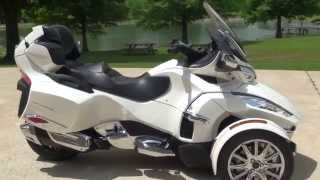 getlinkyoutube.com-HD VIDEO 2014 CAN AM SPYDER RT LIMITED PEARL WHITE USED FOR SALE SEE WWW SUNSETMOTORS COM
