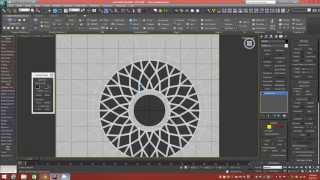 getlinkyoutube.com-Modeling Tutorial: Building A Round Starburst Window And Wall Structure In 3dsMax (NO Booleans)