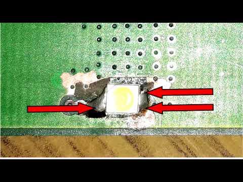 Ниссан 'Кашкай'. Замена светодиодов в плате стоп сигнала.