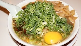 getlinkyoutube.com-新福菜館(仙台店)の「本店仕様ラーメン」と「生卵乗せ焼飯」 Ramen and Fried rice topped with egg yolk of Shinpuku-Saikan.