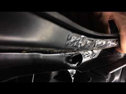 Ужасная передняя панель (телевизор) Polcar на Volkswagen Jetta V/Golf GTI V Mk5